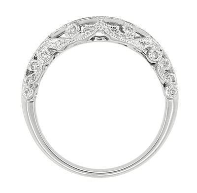 Borola 3/4 Carat Diamond Engagement Ring Setting and Wedding Ring in 18 Karat White Gold - Item: R811 - Image: 6