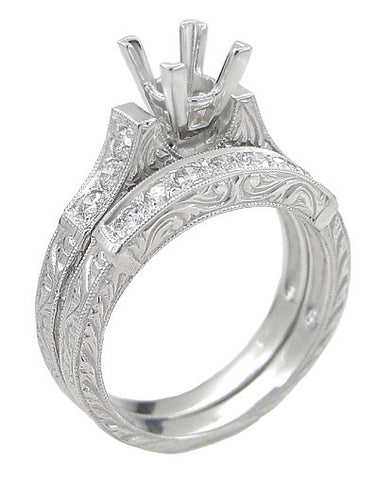 Princess Cut Engagement Ring Settings Princess Cut Ring Settings Antique Jewelry Mall