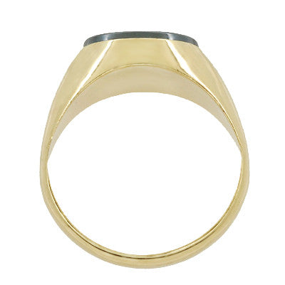 Vintage Hematite Intaglio Ring in 14 Karat Yellow Gold - Item: R974 - Image: 2