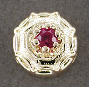 Ruby Set Slide in 14 Karat Gold