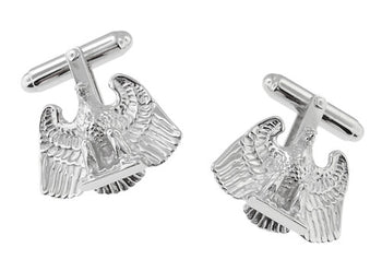 Proud Eagle Cufflinks in Sterling Silver