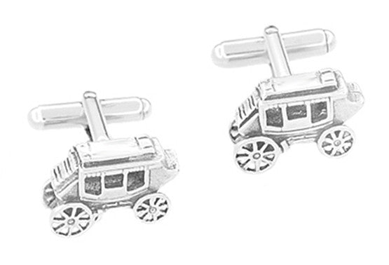 Stagecoach Cufflinks in Sterling Silver