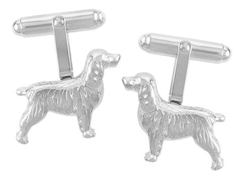 Spaniel Dog Cufflinks in Sterling Silver