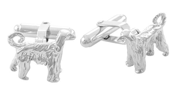 Afghan Cufflinks in Sterling Silver - Item: SCL151 - Image: 1
