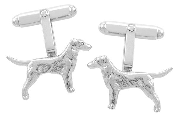 Retriever Dog Cufflinks in Sterling Silver