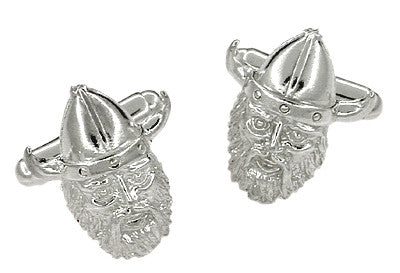 Viking Cufflinks in Sterling Silver