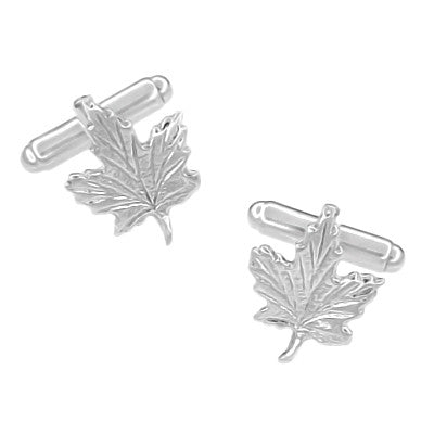 Maple Leaf Cufflinks in Sterling Silver