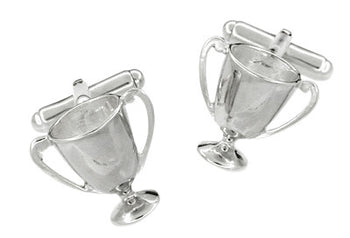 Loving Cup Cufflinks in Sterling Silver