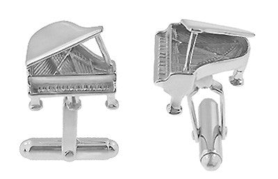 Grand Piano Cufflinks in Sterling Silver