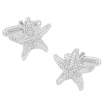Starfish Cufflinks in Sterling Silver