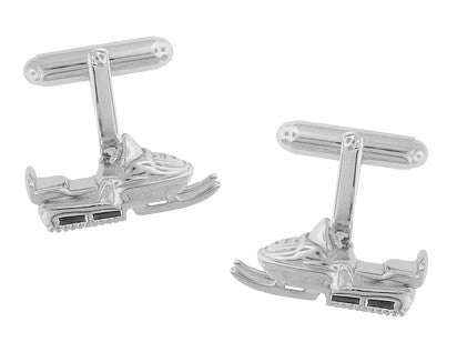 Snowmobile Cufflinks in Sterling Silver