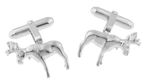 Moose Cufflinks in Sterling Silver - Item: SCL183 - Image: 1