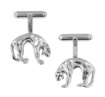 Panther Cufflinks in Sterling Silver