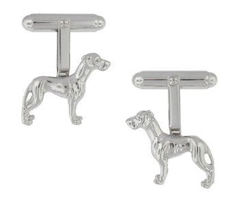 Pointer Dog Cufflinks in Sterling Silver