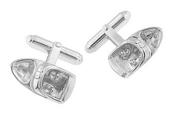 Motor Boat Cufflinks in Sterling Silver