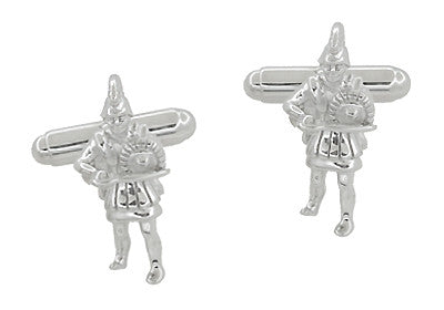 Greek Warrior Cufflinks in Sterling Silver - Item: SCL205 - Image: 1