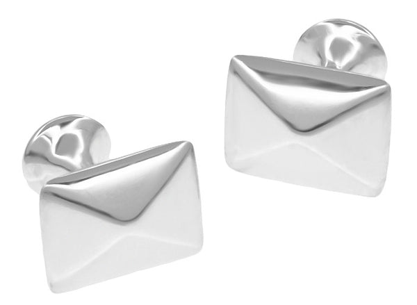 Pyramid Cufflinks in Solid Sterling Silver