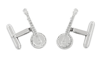 Dueling Banjo Cufflinks in Sterling Silver