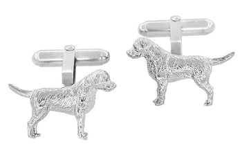 Labrador Retriever Cufflinks in Sterling Silver