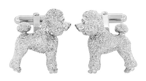 Poodle Cufflinks in Sterling Silver