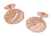 Mid Century Scroll Waves Engravable Rose Gold Plated Cufflinks in Sterling Silver