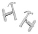 Hammer Cufflinks in Sterling Silver