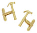 Hammer Cufflinks in Sterling Silver with Yellow Gold Vermeil