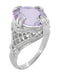 Art Deco Oval Filigree Rose de France Statement Ring in Sterling Silver | 4.5 Carats