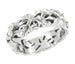 Filigree Calla Lilies Band in Sterling Silver - 6.6mm Wide Floral Ring