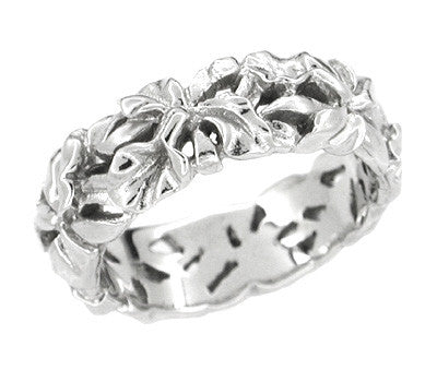 Filigree Calla Lilies Band In Sterling Silver 6 6mm Wide