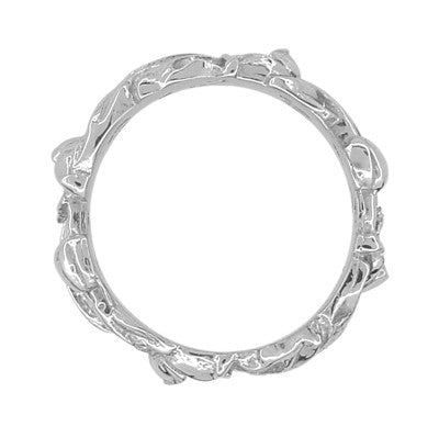 Filigree Lilies Eternity Floral Band in Sterling Silver - 6mm Wide - Item: SSR684 - Image: 1