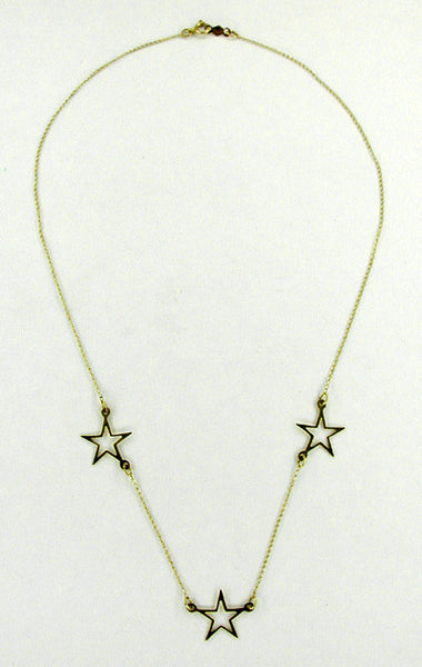 Star Necklace in 14 Karat Gold - Item: N103 - Image: 1