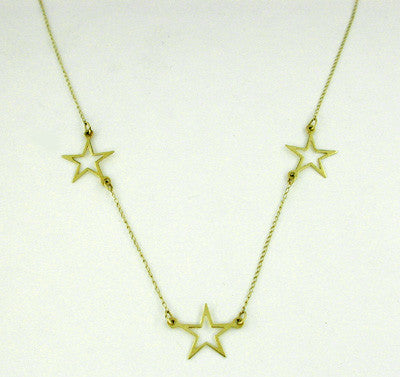 Star Necklace in 14 Karat Gold