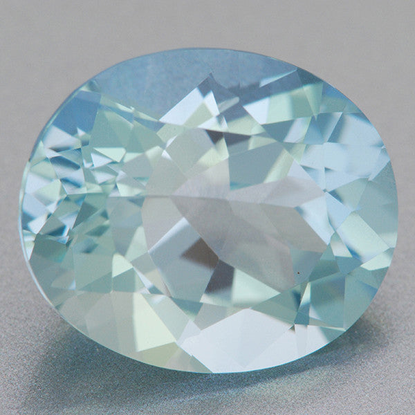 Large Natural Robin's Egg Blue Oval Aquamarine | 4.41 Carats | 12 x 10mm
