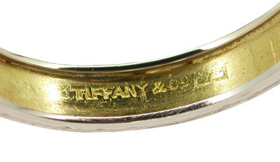 Tiffany & Co. Vintage Wedding Band in Platinum and 18 Karat Yellow Gold - Item: R273 - Image: 1