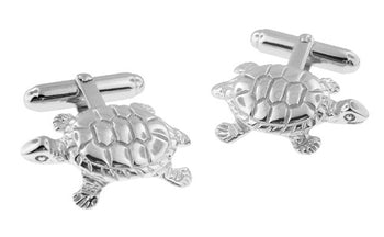 Tortoise Cufflinks in Sterling Silver