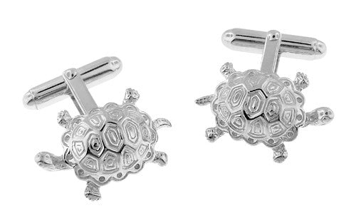 Turtle Cufflinks in Sterling Silver
