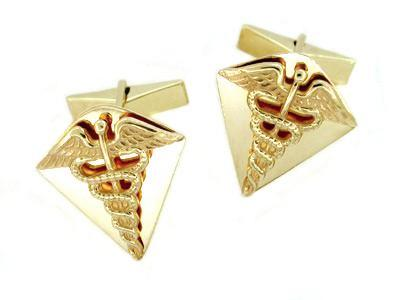 Vintage Doctor's Cufflinks in 14 Karat Gold