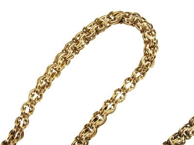 Antique Pocket Watch Chain in Solid 14 Karat Gold - 14.5 Inches - Item: WC101 - Image: 1