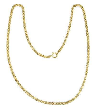 18.5 Inch Vintage Pocket Watch Chain in 14K Yellow Gold