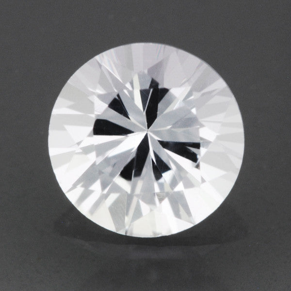 Loose Natural 0.55 Carat Round White Sapphire | 5mm Round Brilliant