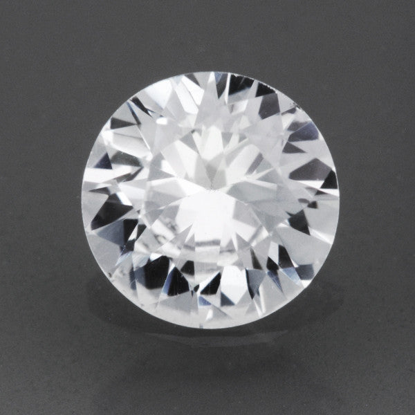 Loose Natural 0.50 Carat White Sapphire Round Brilliant Cut | 5mm