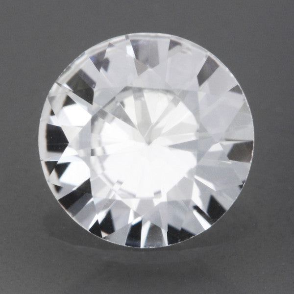 0.63 Carat Loose Round Brilliant Cut White Sapphire Gemstone | 5.6mm