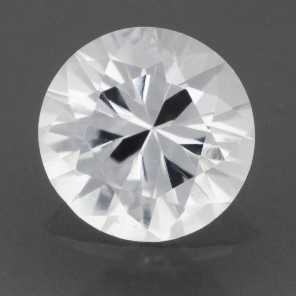 Loose Natural 0.47 Carat White Sapphire Round Brilliant Cut | 4.8mm