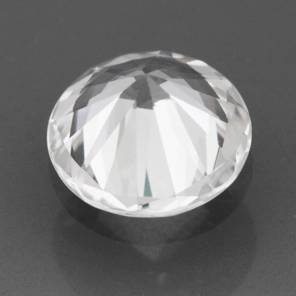 0.82 Carat Round Loose Natural White Sapphire Round Brilliant | 5.9mm - Item: SW002519 - Image: 1