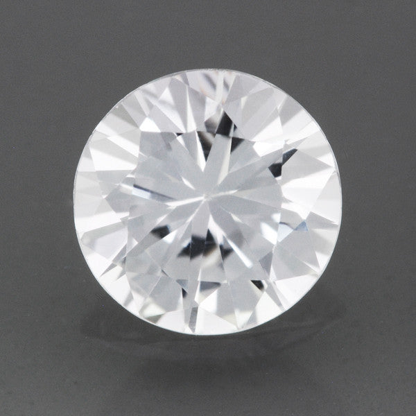0.82 Carat Round Loose Natural White Sapphire Round Brilliant | 5.9mm
