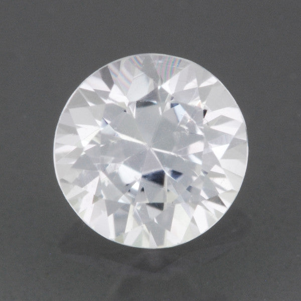 5.3mm Loose Natural Round White Sapphire | 0.47 Carat | Ceylon White Gemstone