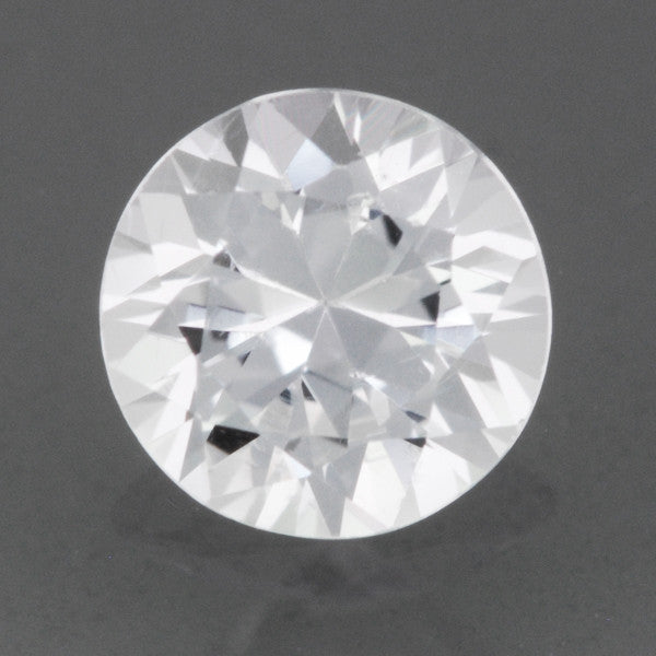 6mm Round White Sapphire | 0.73 Carat Loose Natural Ceylon White AAAA Gemstone