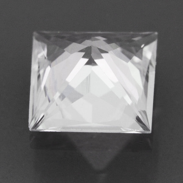 Loose Natural 0.75 Carat White Sapphire Square Princess Cut | 5.1mm - Item: SW003241 - Image: 1