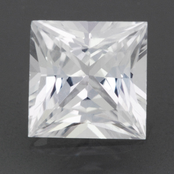 Loose Natural 0.75 Carat White Sapphire Square Princess Cut | 5.1mm